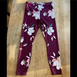 Athleta Floral Elation 7/8 Tight, Size M